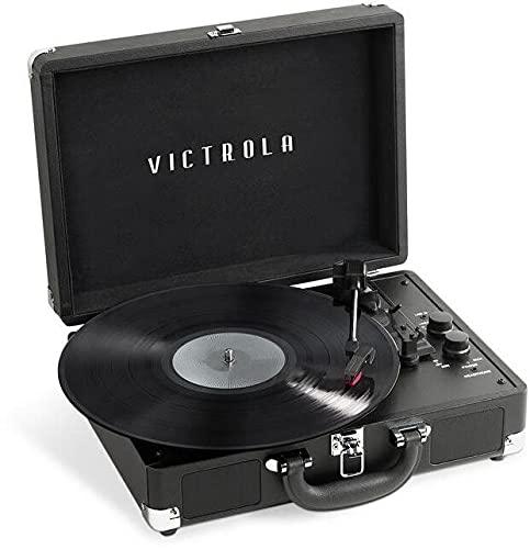Victrola VSC-400SB-BLK Journey+ Dual Bluetooth Portable Suitcase Turntable...