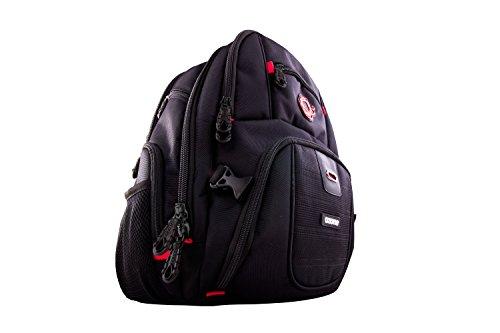Mochila Gaming Ozone Survivor Backpack - Mochila para Portatil hasta 15,6 Pulgadas - Cremallera Ultra Segura, Marzo Reforzado, Acholchada, Resistente, Negro