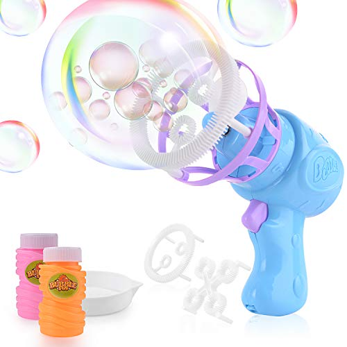 FORMIZON Pistola de Burbujas de Agua, Pistola de Pompas de Jabón, Máquina de Pompas de Jabón para Ninos, Juguete de Regalo para Verano al Aire Libre para Niños (2 Formas de Burbuja)