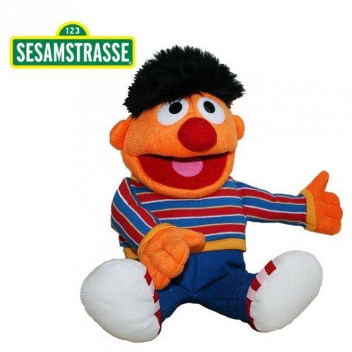 Sesamstraße Ernie | Handpuppe 35 cm | Plüsch Figur | Kuscheltier