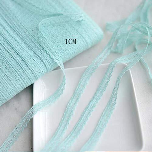 5 meter prachtige kleur katoen kant trim kleding decoratief lint thuis handgemaakte patchwork diy naaien bruiloft ambachten accessoire, ijsgroen