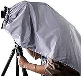 eTone 4 x 5 Dark Cloth - Capuchón de enfoque para cámaras de gran formato, color plateado y negro