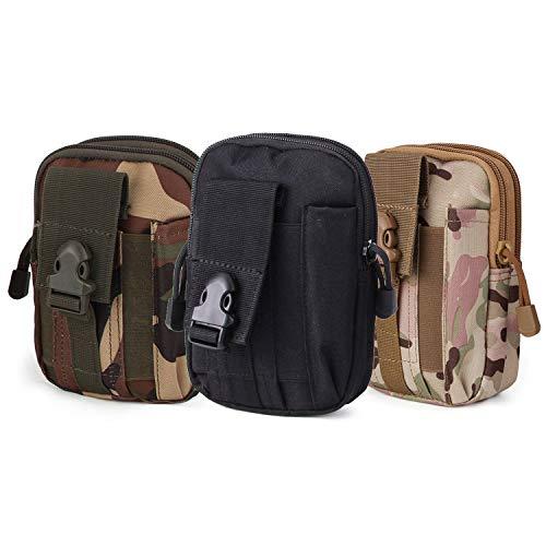 Beetest 3pcs Universal Outdoor Multi-Purpose Pack Taille Tactique Molle EDC Poche Camping Sac De Trekking avec Porte-Étui pour Téléphone Portable