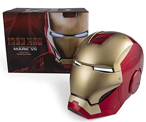 Iron Man Casco Máscara, Marvel Avengers Plástico Máscaras Faciales Máscaras Cascos Película de Halloween Cosplay Accesorios de Disfraces, MK7