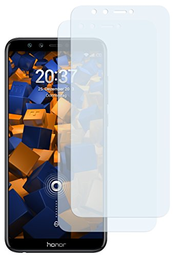mumbi Schutzfolie kompatibel mit Huawei Honor 9 Lite Folie klar, Bildschirmschutzfolie (2X)