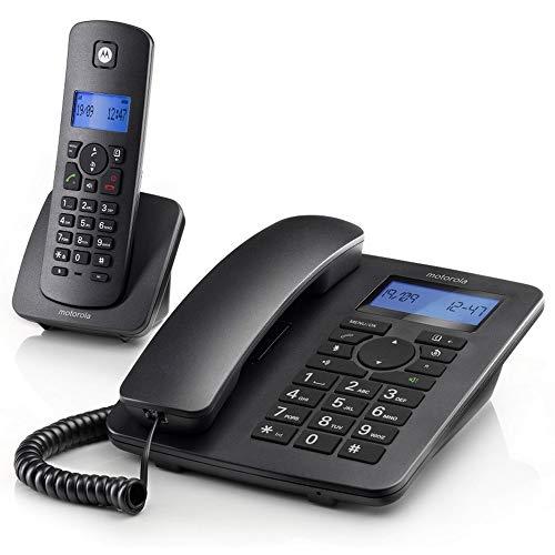Motorola Combo C4201 Telefono Fisso Cordless Dect (Nero Antracite)