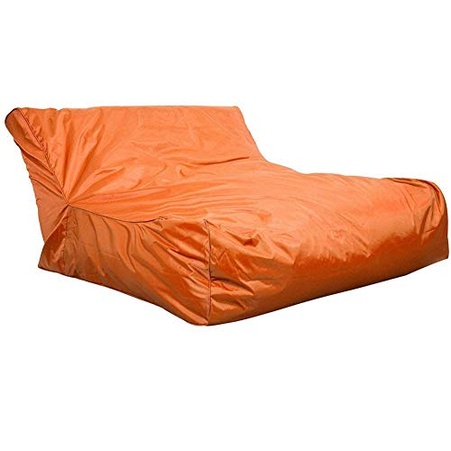 ROSEBEAR Piscina Cubierta de Bolsa de Frijoles Flotante Impermeable Suave Sillón Sofá para Leer Relajante Naranja