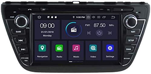 FGVBC Reproductor de DVD para automóvil GPS Unidad Principal estéreo Navi Radio Multimedia WiFi Compatible con Suzuki S-Cross 2013 2014 2015 2016 2017 2018 Soporte Control del Volante