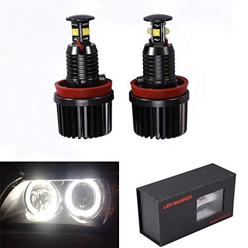 H8 40W LED Fari Angel Eyes per auto Kit di conversione alogeno CanBus nessun errore Luci di posizione CREE 6000K Xenon bianco