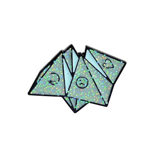 HUIJUNWENTI Broche de Origami ataúd Juego Ciencia del corazón química Telaraña Partidos Rosa Broche de Solapa de Dibujos Animados Cuchillo y Pin Pin Chapas (Talla : Origami Game)