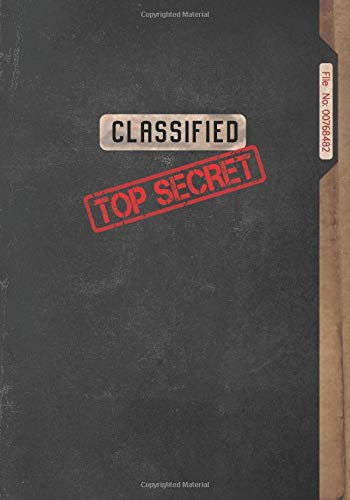 Classified Top Secret Journal, Spy Gear for Kids: Play to be a Spy or a Detective, Fun Games, Spy Notebook for Boys and Girls, 7 x 10