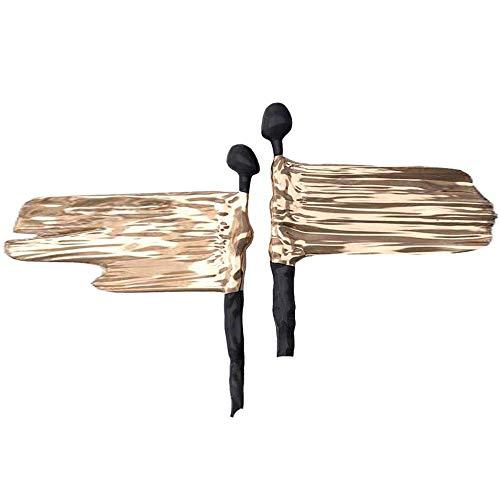 Gymqian Ilustraciones Pared Escultura de la Pared Del Arte - Amantes Decoración de la Pared Del Fondo Colgando Vida Sofá Tv Decoración de la Pared Entrada Del Restaurante Wall Hangi