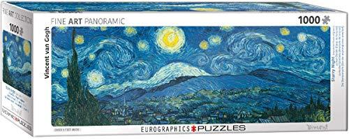 EuroGraphics 6010-5309 Puzzle panoramique Nuit étoilée Van Gogh (1000 pièces)
