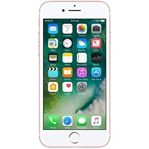 Apple iPhone 7, Fully Unlocked, 32GB - Rose Gold (Renewed)