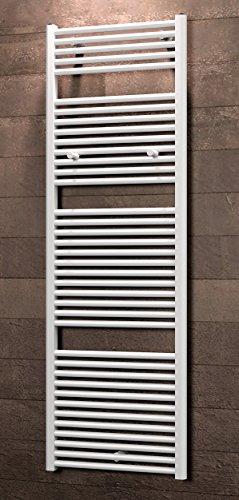 Schulte Badheizkörprer Bavaria, Standardanschluss unten außen, 177 x 60 cm, alpin-weiß,  Design-Heizkörper für Zweirohr-System