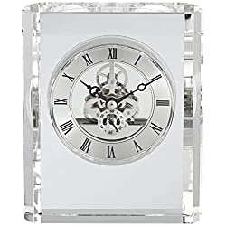 Dahlia Studios Aimee 6 High Rectangular Crystal Table Clock