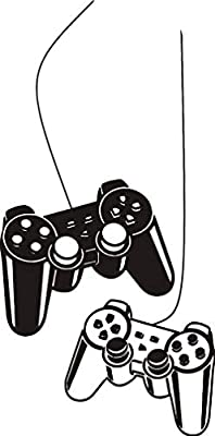 Wall Art Decal Joystick Gamer Video Controller Boy Room Gaming Room Decoration Wall Sticker Removable Kids Playroom Mural Y-209