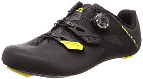 MAVIC Cosmic Elite Vision C Scarpe Strada Uomo, Black/Yellow Black - Nero, 44 2/3