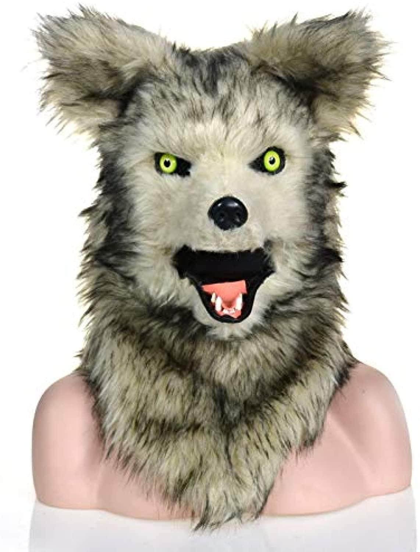 Maschere per adulti Maschera animale Maschera popolare popolare commovente della bocca Maschera animale del lupo per il Natale Costume di autonevale di Pasqua Partito della maschera della testa dell'an