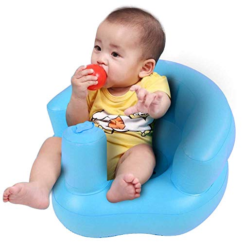 Asiento inflable plegable para niños, silla de ducha inflable con diseño ergonómico, silla de ducha inflable para jugar, comer, descansar, 50 x 46 x 28 cm