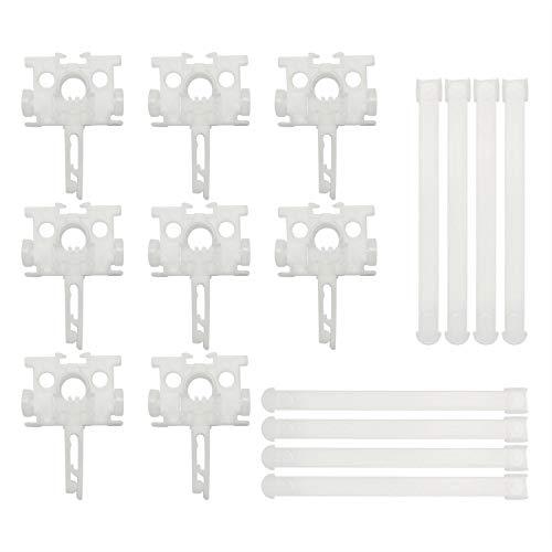 "ZRM&E 8pcs Vertical Blinds Components Bar Curtain Accessories H Hook Bracket Plastic Spacer Vertical Louver Accessories for 3-1/2"" or 5"" Vertical Louver Assembly"
