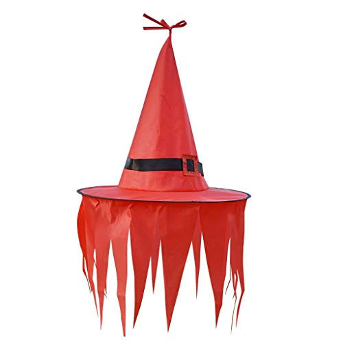 Lipoipo Halloween Ghost Hanging Decorations with Witch Hat Decorations Outdoor Indoor Yard Tree Garden Party Decor Red