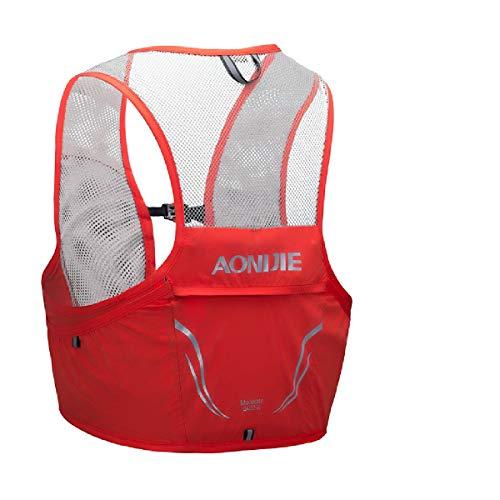 TRIWONDER Sac Trail Ultra Léger 2,5L Gilet Running Hydratation Sac d'Hydratation Veste VTT pour Marathon Randonnée Cyclisme Homme Femme (Rouge & Orange, M/L - 90-102 cm)