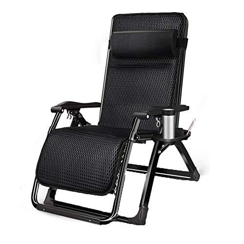 ZYQZYQ Klappbarer Liegestuhl Im Freien Liegender Schwerelosigkeitsstuhl Im Garten Und Im Freien Home Lounge Chair Klappbarer Liegestuhl Mit Wattepad,C