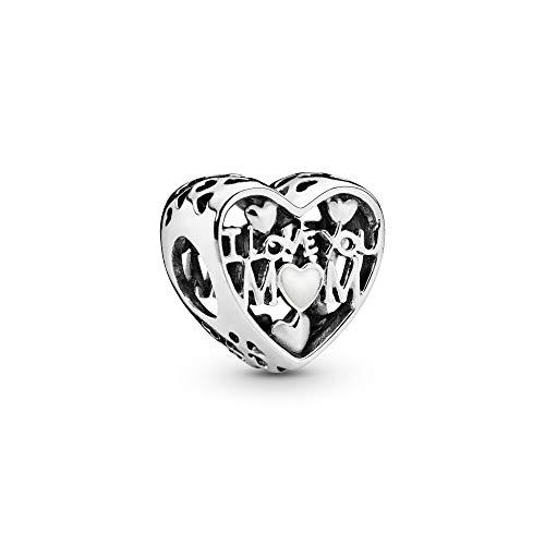 Pandora Jewelry I Love You Mom Heart Sterling Silver Charm