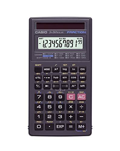 Casio FX 260 Solar II Scientific Calculator, Black