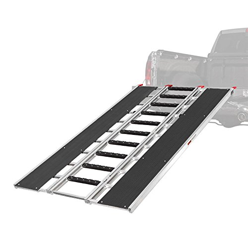 """Black Ice 94"""" x 54"""" Snowmobile Loading Ramp with Stud Protectors"""