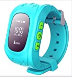 Szsm Children Gps Kids Smart Watch Orologio da polso G36 Q50 Gsm Gprs Localizzatore Gps Tracker Smartwatch anti-perso Protezione bambini per Ios Android No Box Blue