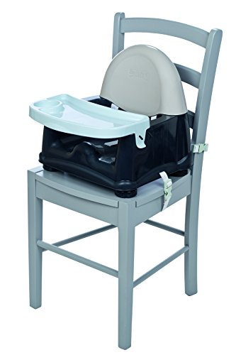 Safety 1st Easy Care Rialza Sedia per Bambini per Sedia da Tavolo, con Vassoio Incluso, Grigio (grey patches)