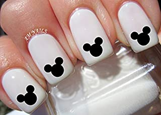 Mickey Mouse Black Ears Disney Water Nail Art Transfers Stickers Decals - Set of 36