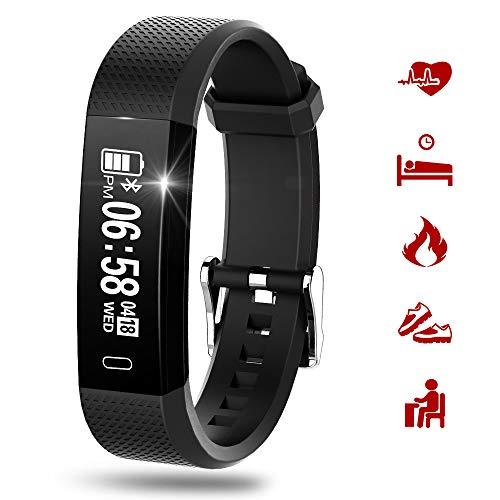 Fitness Tracker Cardiofrequenzimetro da Polso Smartwatch Donna Uomo Orologio Braccialetto Fitness Smart Watch Attività Impermeabile Con Monitor Del Sonno, Contapassi, Contacalorie, Pedometro