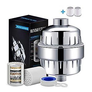 Filtro de Ducha, 15 Etapas Universal Filtro Purificador de Agua Ducha, 2 Cartuchos incluidos, Filtro para Ducha Alta…