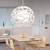 Creative Hollow Glass Barra de cocina Habitación infantil Retro Luz de techo industrial moderno Sencillez Fina Resina Resona Restaurante Colgante Luz de lámpara E27 Decoración Metal Colgante Lámpara