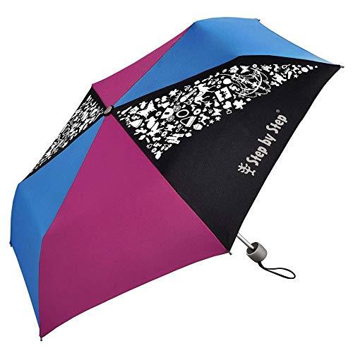Step by Step Pink / Blue Regenschirm