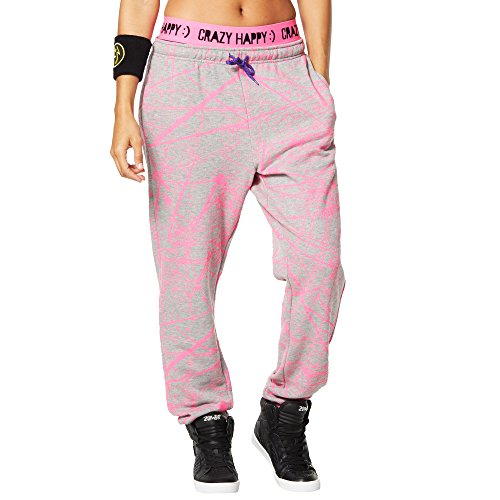 Zumba Fitness Sparks Fly Sweatpants Pantalones, Mujer, Gris, XL