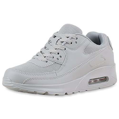 Japado Knallige Damen Herren Unisex Sportschuhe Neon-Sneakers Sportlicher Eyecatcher Ihren Alltags-Look Damen Sportschuhe GRAU GRAU 39