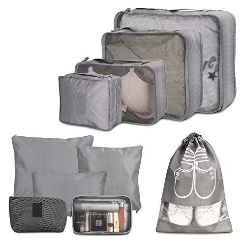 Packing Cube, Wokkol Set Viaggio Organizer da Viaggio Organizer Viaggio Set Viaggio Organizer Valigia Sistema di Cubo di Viaggio Cubo Borse di stoccaggioPerfetto per Casa, Stoccaggio, Viaggi (10PCS)
