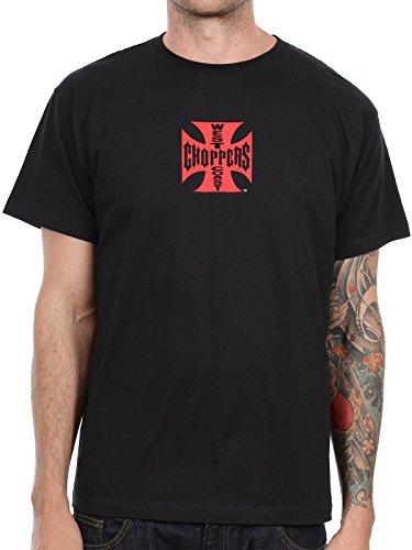 West Coast Choppers - Camiseta - Casual - para hombre Negro XXX-Large