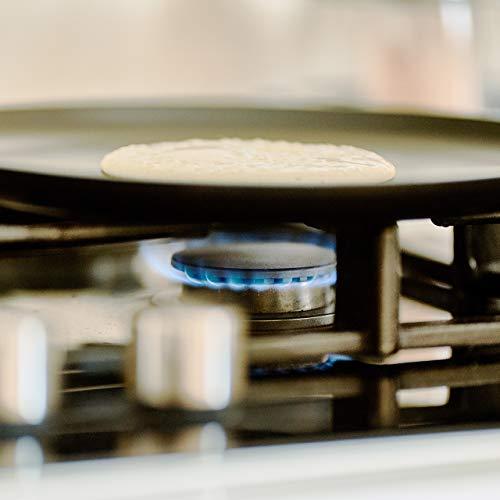 Relaxdays Crepe Pan, Aluminium, Black, 45.5 x 25.5 x 8.5 cm
