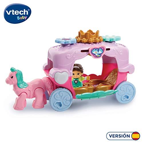VTech- Carruaje Real TutTut Amigos Carroza interactiva, Incluye a la Princesa Alexia (3480-198522)