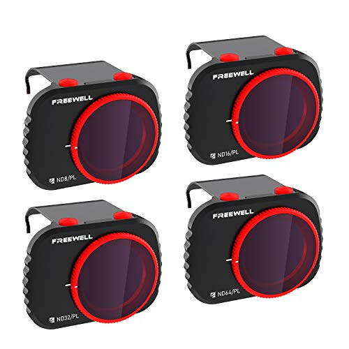 Freewell Bright Day -4K Series - Filtros de 4Paquetes Compatibles con Mavic Mini/Mini 2