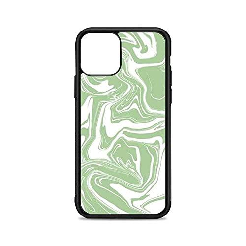 Custodia per telefono astratta verde per iPhone 12 mini 11 pro XS Max X XR 6 7 8 plus SE20 TPU silicone e cover in plastica rigida, A1, per iPhone 11Pro MAX