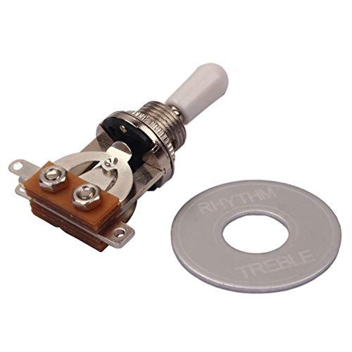 Healifty Guitarra eléctrica interruptor de palanca de 3 vías interruptor selector con...
