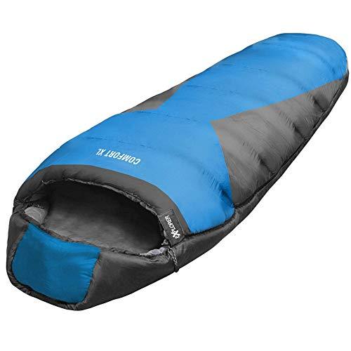 Mumienschlafsack Explorer Comfort XL Schlafsack Extrem -23 Grad Koppelbar (Links)