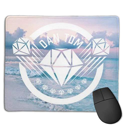 Dantdm Dan TDM Logo Professional Rechteck rutschfeste Mauspad Spiel Mousepad Computer Notebook 25 * 30Cm