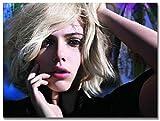 Luck7 Tela Quadro 23.6'x35.4'(60x90cm) Come Bellissimi Occhi con Capelli biondi Corti Scarlett Johansson per la Decorazione della Stanza Senza Cornice